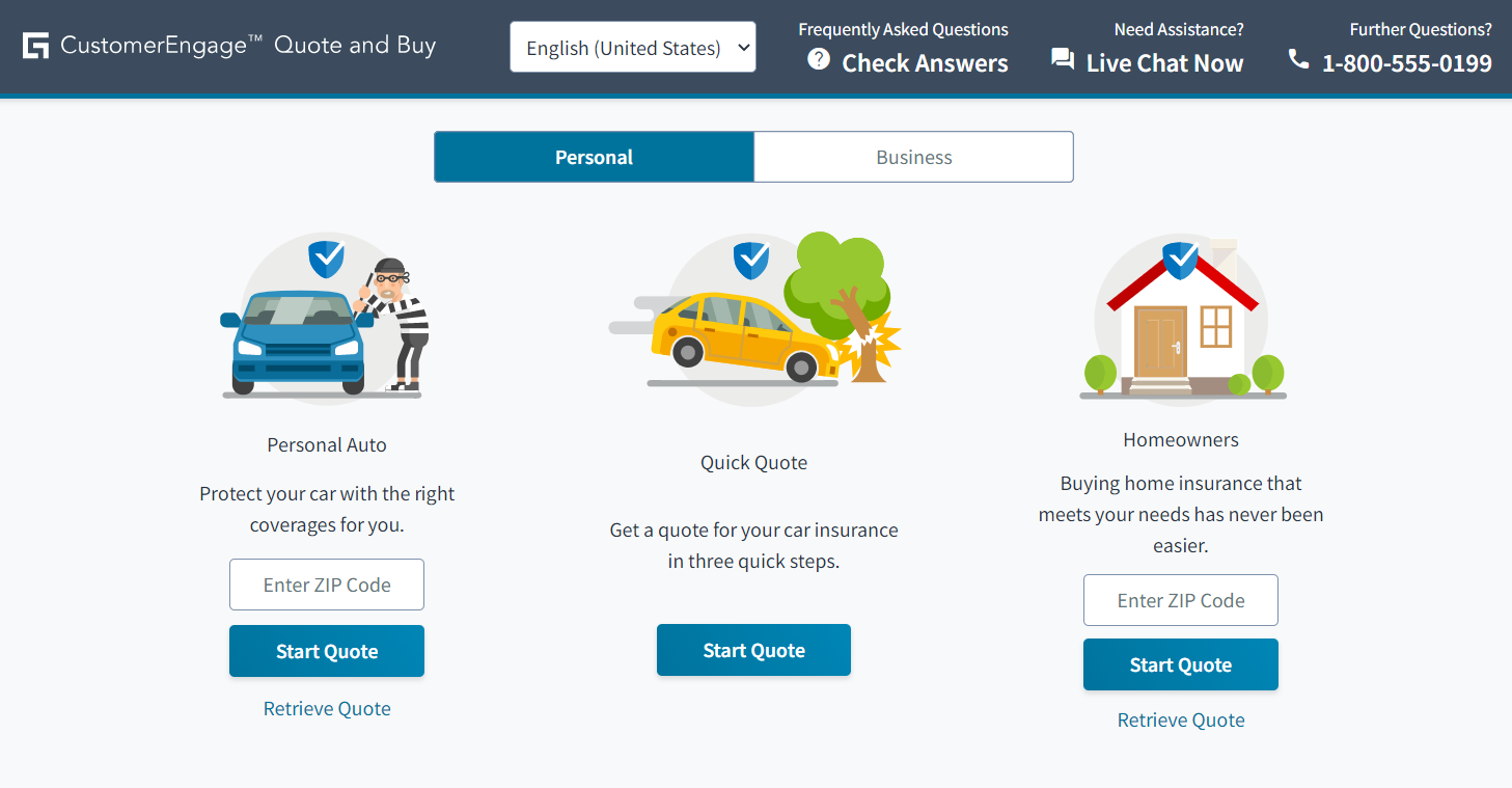 Guidewire CustomerEngage Quote and Buy